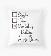 Mentally Dating Alfie Deyes Throw Pillow