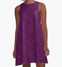 Stegosaurus Lace - Purple A-Line Dress