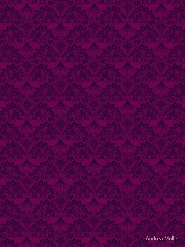 Stegosaurus Lace - Purple by andreaalice