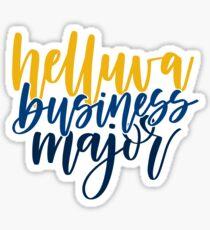 Helluva Business Major Georgia Tech Sticker