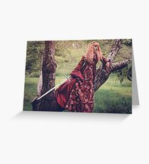 Sword Maiden Greeting Card