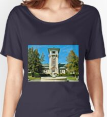 """""""The Clock Tower Building, Mountain Home, Tennessee""""... prints and products Women's Relaxed Fit T-Shirt"""