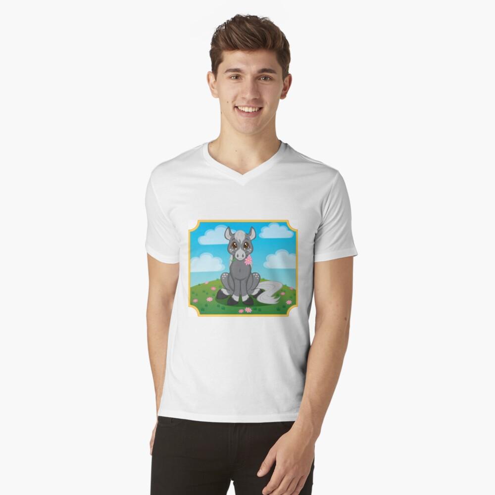 Flower Pony V-Neck T-Shirt