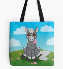 Flower Pony Tote Bag