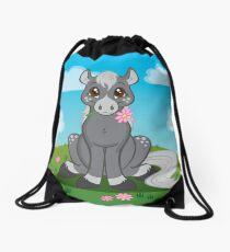 Flower Pony Drawstring Bag