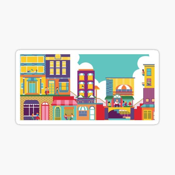 Bright Cityscape Sticker