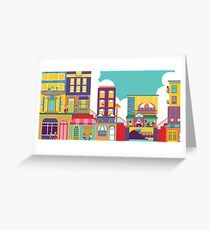 Bright Cityscape Greeting Card