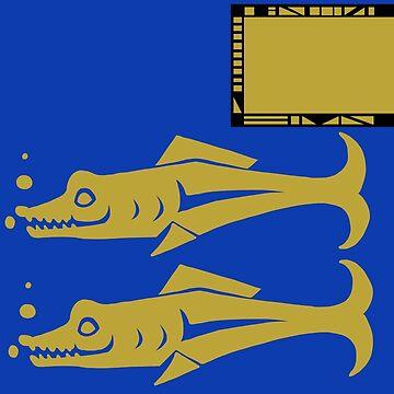 Blue Barracudas + nametag by CharlieNoHead