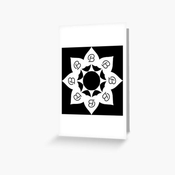 Cuckold Spades Flower Greeting Card