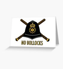 NO BOLLOCKS  Greeting Card
