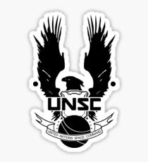 UNSC Insignia (Black) Sticker