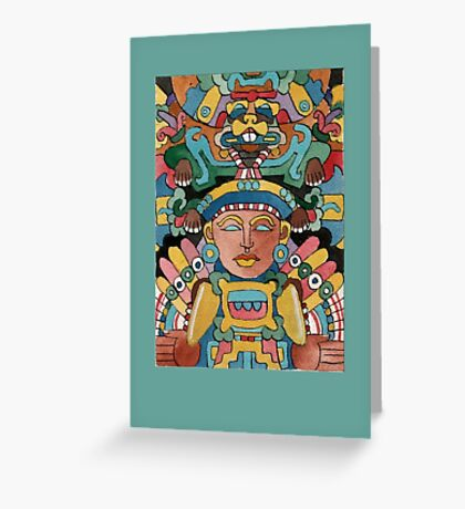 Maize Deity: Centeotl Greeting Card