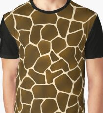 Wild Style Giraffe Print Safari Pattern Graphic T-Shirt