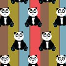 Panda Retro 2 (Pattern) by Adamzworld