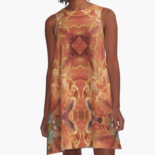 Kaleidoscopic Floral 2.1 A-Line Dress