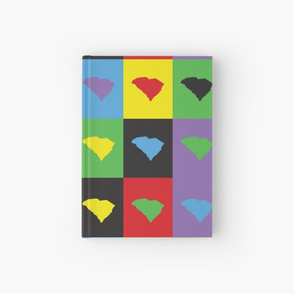 South Carolina Colorful US State Pop Art Pattern Hardcover Journal