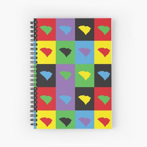 South Carolina Colorful US State Pop Art Pattern Spiral Notebook