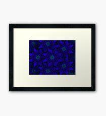 Blue Pinwheel Abstract Framed Print