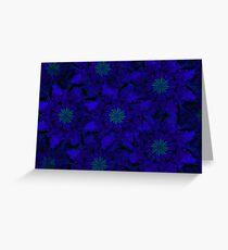 Blue Pinwheel Abstract Greeting Card