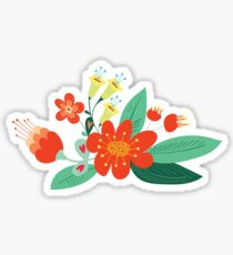 Flowers and hearts Sticker