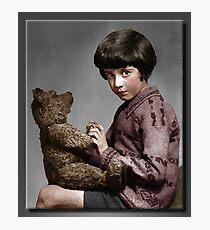 Christopher Robin and Pooh Photographic Print