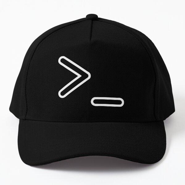 Shell Prompt >_ Command Line Interpreter Geek/Nerd White Design Baseball Cap