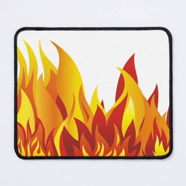 Tall Big Fire Flames Mouse Pad