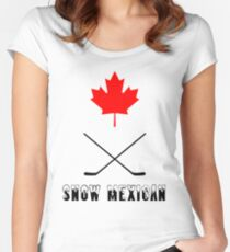 Snow Mexican Canada Women's Fitted Scoop T-Shirt