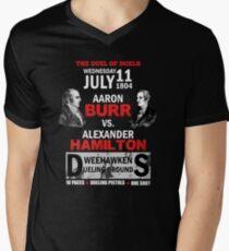 Hamilton Vs Burr Men's V-Neck T-Shirt