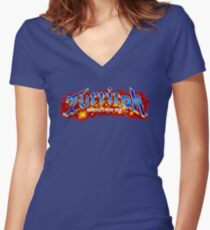 TURRICAN SHOOT OR DIE Women's Fitted V-Neck T-Shirt