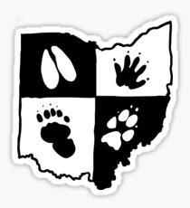 Ohio Furs (Black Logo) Sticker