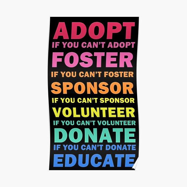 Adopt Foster Sponsor Poster
