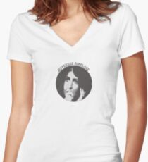 Jefferson Airplane (Grace Slick) Women's Fitted V-Neck T-Shirt