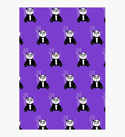 Panda Girl - Purple (Pattern 2) Photographic Print