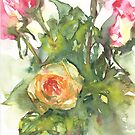 Watercolour painting of roses Day 458. by akolamble