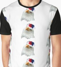 Flower Crown Bald Eagle Graphic T-Shirt