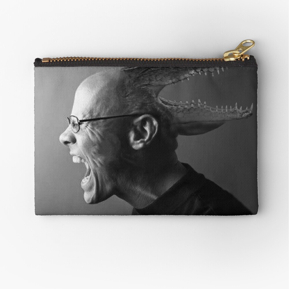 Reptilian Thoughts, Draconian Actions Zipper Pouch