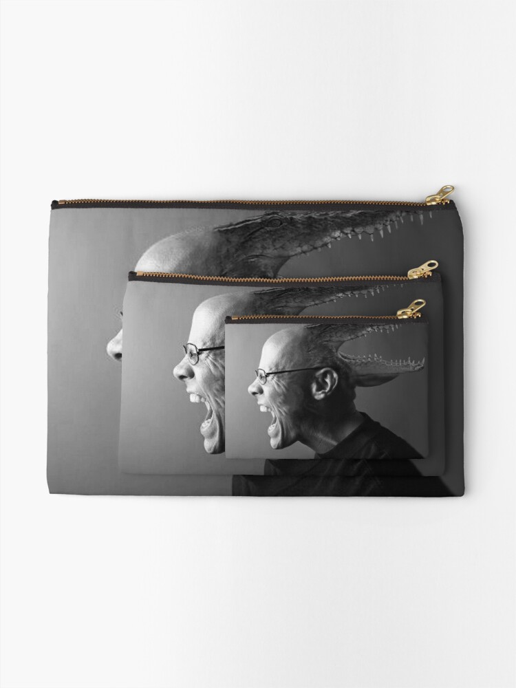Alternate view of Reptilian Thoughts, Draconian Actions Zipper Pouch