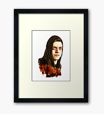 mr robot Framed Print