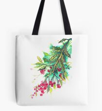 Christmas Holly - T shirt Tote Bag