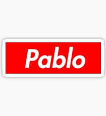 I feel like Pablo (Supreme Logo) Sticker