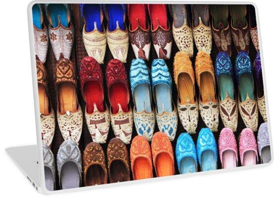 'Ladies Arabic Shoes' Laptop Skin by Helen Shippey