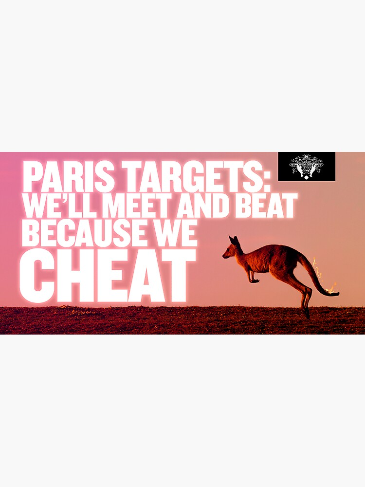 PARIS TARGETS: We'll Meet and Beat because we cheat — Sticker by ARationalFear