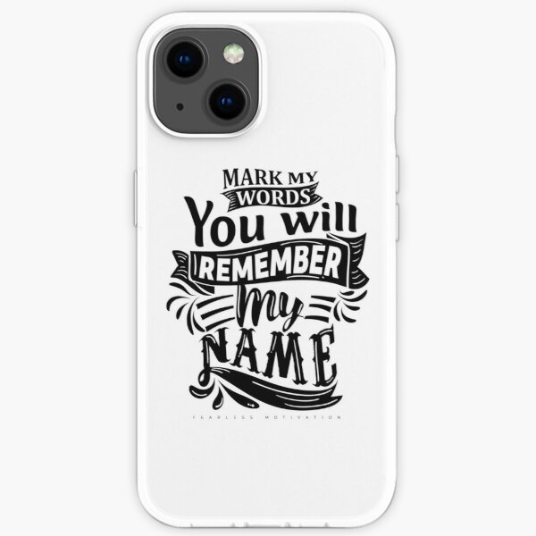 Mark My Words... iPhone Soft Case