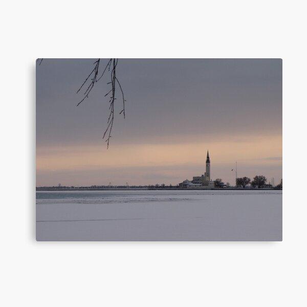Across the Ice Canvas Print