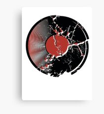 Music Vinyl Record Explosion Comic Style Canvas Print