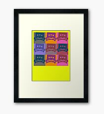 Music Tape Cassette Pirate Pop Art Framed Print