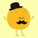 Funny Orange with Mustache by badbugs