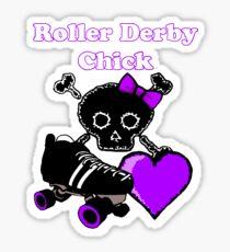 Roller Derby Chick (Purple) Sticker