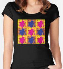 Pop Art Drummer Women's Fitted Scoop T-Shirt